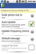 Facebook Location Updater Application for Android Mobile Phone